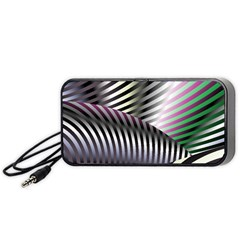 Fractal Zebra Pattern Portable Speaker (Black)
