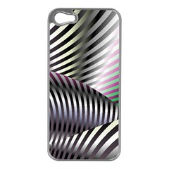 Fractal Zebra Pattern Apple Iphone 5 Case (silver)