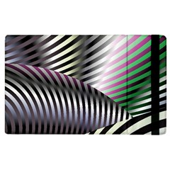 Fractal Zebra Pattern Apple iPad 2 Flip Case