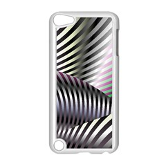 Fractal Zebra Pattern Apple iPod Touch 5 Case (White)