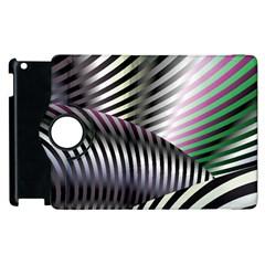 Fractal Zebra Pattern Apple iPad 3/4 Flip 360 Case