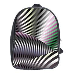 Fractal Zebra Pattern School Bags (XL)