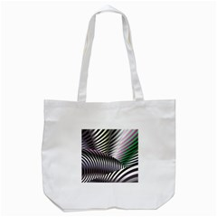 Fractal Zebra Pattern Tote Bag (White)