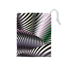 Fractal Zebra Pattern Drawstring Pouches (Medium)