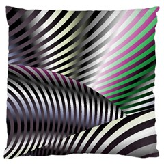 Fractal Zebra Pattern Standard Flano Cushion Case (one Side)