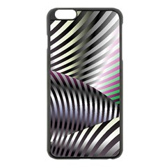 Fractal Zebra Pattern Apple Iphone 6 Plus/6s Plus Black Enamel Case