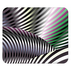 Fractal Zebra Pattern Double Sided Flano Blanket (Small)