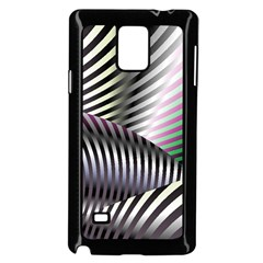 Fractal Zebra Pattern Samsung Galaxy Note 4 Case (black)