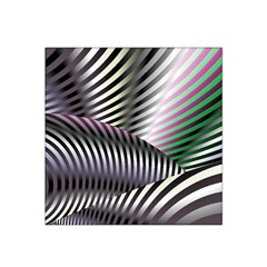 Fractal Zebra Pattern Satin Bandana Scarf