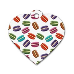 Macaroons  Dog Tag Heart (One Side)