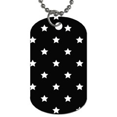 Stars pattern Dog Tag (One Side)