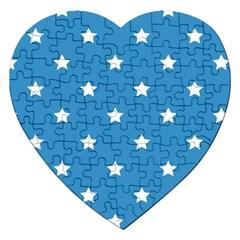 Stars pattern Jigsaw Puzzle (Heart)