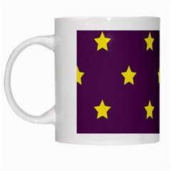 Stars pattern White Mugs