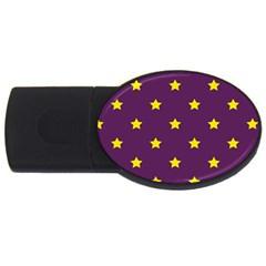 Stars pattern USB Flash Drive Oval (1 GB)