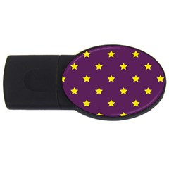 Stars pattern USB Flash Drive Oval (4 GB)