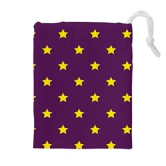 Stars pattern Drawstring Pouches (Extra Large)