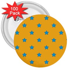 Stars pattern 3  Buttons (100 pack)