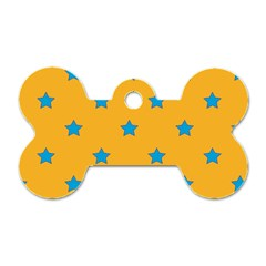 Stars pattern Dog Tag Bone (Two Sides)