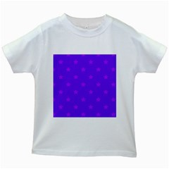 Stars pattern Kids White T-Shirts