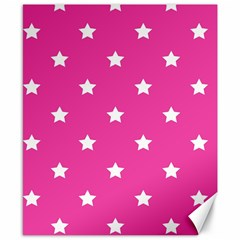 Stars pattern Canvas 8  x 10