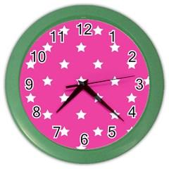 Stars pattern Color Wall Clocks