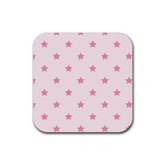 Stars pattern Rubber Coaster (Square)