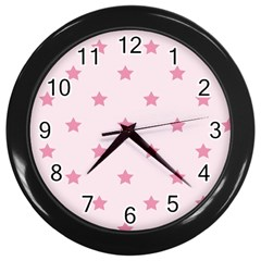 Stars pattern Wall Clocks (Black)