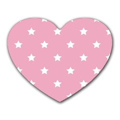 Stars pattern Heart Mousepads