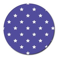 Stars pattern Round Mousepads