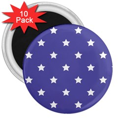 Stars pattern 3  Magnets (10 pack)