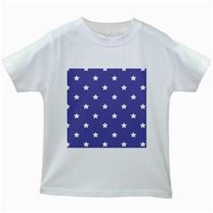 Stars pattern Kids White T-Shirts