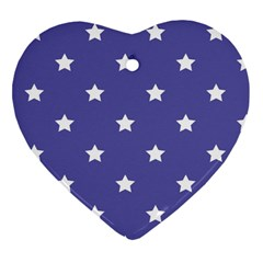 Stars pattern Heart Ornament (Two Sides)