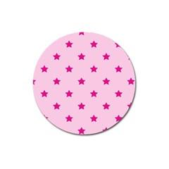 Stars pattern Magnet 3  (Round)