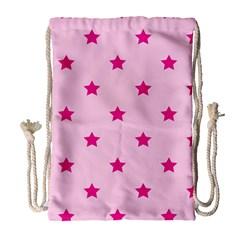 Stars pattern Drawstring Bag (Large)
