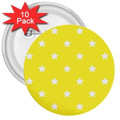 Stars pattern 3  Buttons (10 pack)