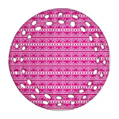 Pattern Round Filigree Ornament (two Sides)