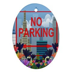 No parking  Ornament (Oval)