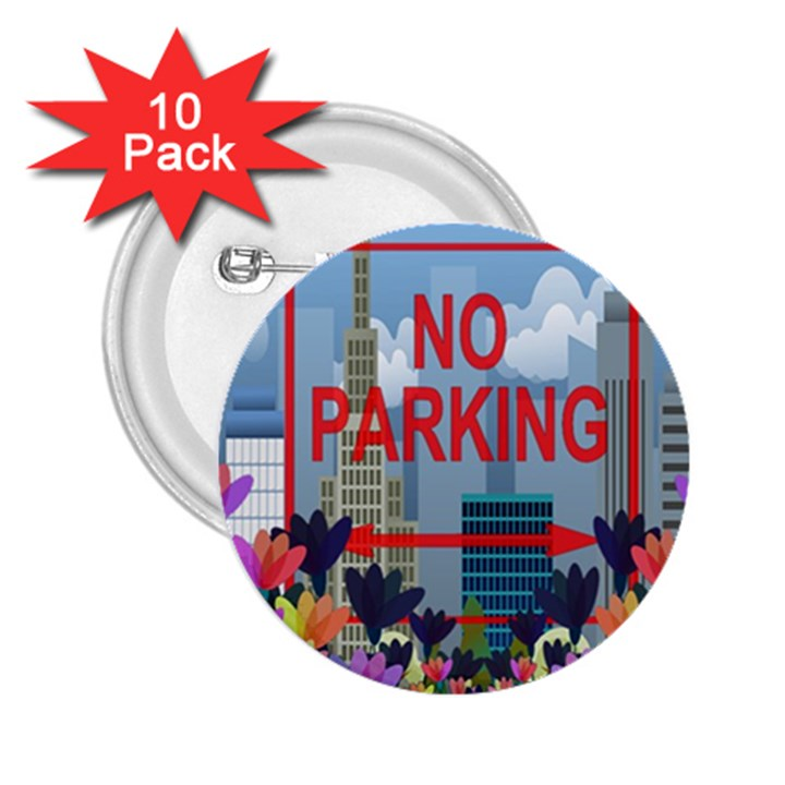 No parking  2.25  Buttons (10 pack)