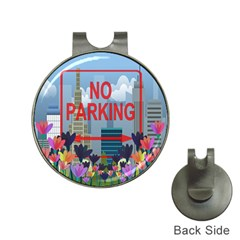 No parking  Hat Clips with Golf Markers