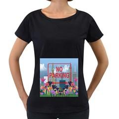 No parking  Women s Loose-Fit T-Shirt (Black)