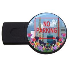 No parking  USB Flash Drive Round (4 GB)