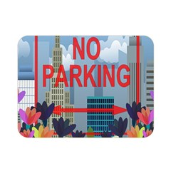 No Parking  Double Sided Flano Blanket (mini)