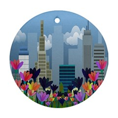 Urban nature Ornament (Round)
