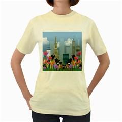 Urban nature Women s Yellow T-Shirt