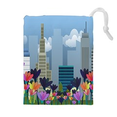 Urban nature Drawstring Pouches (Extra Large)