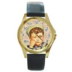 Little sailor  Round Gold Metal Watch