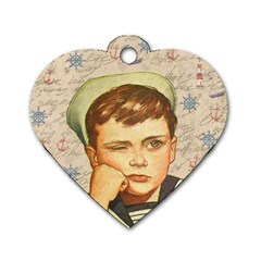 Little sailor  Dog Tag Heart (Two Sides)