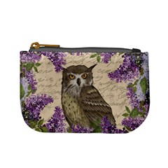 Vintage owl and lilac Mini Coin Purses