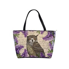 Vintage owl and lilac Shoulder Handbags