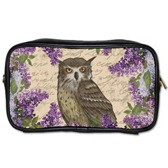 Vintage owl and lilac Toiletries Bags 2-Side